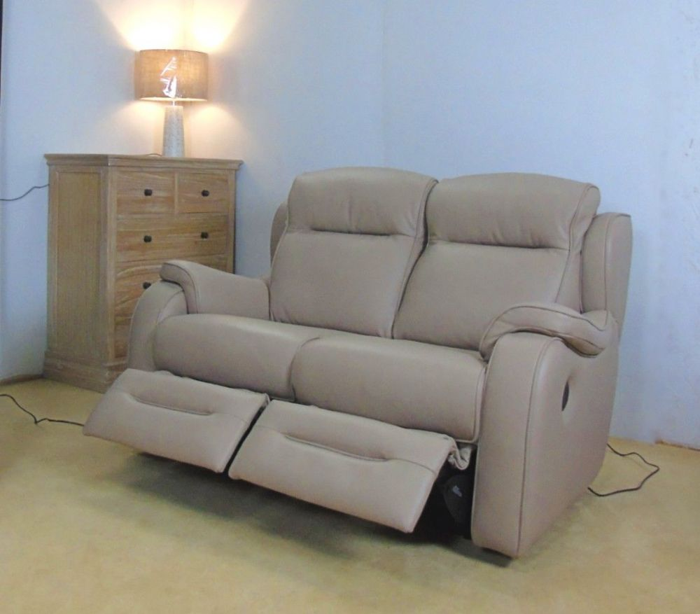 Boston Power Reclining Leather 2 Seater Sofa